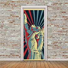YOLIYANA Music Waterproof Sticker,Hand in Heavy Rocker Sign Musical Universal Gesturing Thunder Bolts Party People Decorative for Home Office,30
