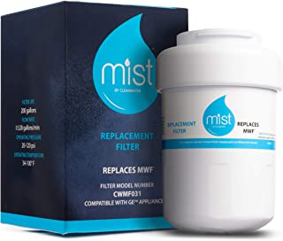 Mist MWF Replacement For GE MWF Smartwater, MWFA, MWFP, GWF, GWFA, Kenmore 9991,46-9991, 469991 Refrigerator Water Filter Replacement