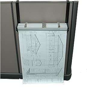 Adir Corp. Cubicle Rack for Blueprints - Plans, Black with 6 18