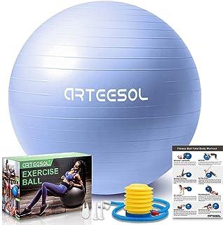 comprar comparacion arteesol Balón de Ejercicio Anti-explosión, Pelota de Pilates 45cm/55cm/65cm/75cm/85cm Fitness Yoga Ball Estabilizador de ...