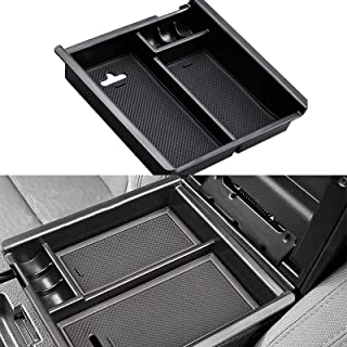 Vemote Center Console Organizer Fits for Toyota Tacoma 2016 2017 2018 2019 2020 2021 Insert Tray Armrest Storage Box Interior Accessories- OEM Fit