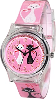 Hansying Cartoon Cat Design Waterproof Girls Quartz Watch