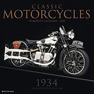 Classic Motorcycles 2020 Wall Calendar