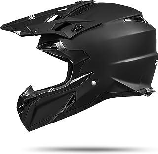 ATO Moto MX Mexico Schwarz matt Größe S 55 bis 56 cm Enduro Helm mit neuster Sicherheitsnorm ECE 2205