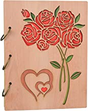 Photo Album 5x7 Roses Design Cover Wooden Photo Albums 120 Pictures Birthday Gifts