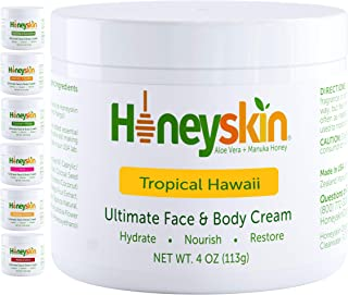 Sponsored Ad - Natural Face and Body Moisturizing Skin Cream - with Manuka Honey and Coconut Oil - Anti Aging - Hydrating ...