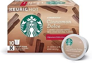 Starbucks Cinnamon Dolce Flavored Blonde Light Roast Single Cup Coffee for Keurig Brewers, 10 Count