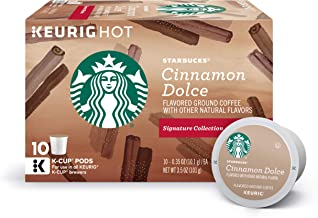 Starbucks Cinnamon Dolce Flavored Blonde Light Roast Single Cup Coffee for Keurig Brewers, 10 Count