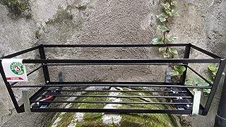 Fioriera da muretto in piattina angolare da cm 50 x 23 x 13 h colore nero