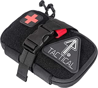 14er Tactical IFAK Pouch | 1000D Ballistic Material, YKK Zippers, Slim | Tear-Away Individual First Aid Kit w MOLLE, PALS | Tourniquet Straps, Emergency, Medical, Survival, Trauma, Travel