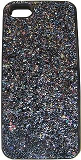 Victoria's Secret Black Sparkle Hard Case Mirror Card Holder iPhone 5/5S/5C