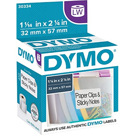 "DYMO Authentic LW Multi-Purpose Labels| DYMO Labels for LabelWriter Printers, Great for FBA/FNSKU Barcodes (1-1/4"" x 2-1/4""), 1 Roll of 1000"
