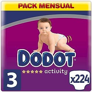 comprar comparacion Dodot Activity - Pañales con Ajuste más Resistente, 6-10 kg, Talla 3, 224 Unidades