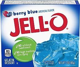 JELLO Berry Blue Gelatin Dessert Mix 3 Ounce Box (3)
