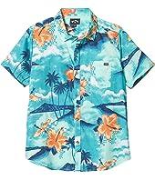 Sundays Floral Short Sleeve Shirt (Big Kids) 1