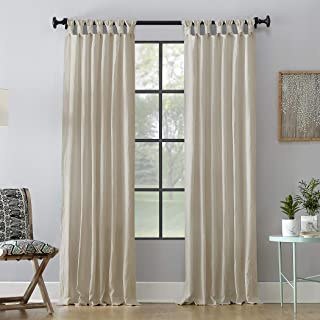 Archaeo Washed 100% Cotton Twist Tab Curtain, 52