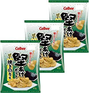 カルビー 堅あげポテト 焼きのり味 65g ×3袋