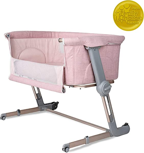 Unilove Hugme Plus Bedside Sleeper Portable Bassinet Includes Travel Bag And Mattress Plum Pink
