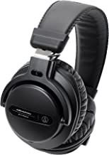 Audio-Technica ATH-PRO5XBK Professional Over-Ear Closed-Back Dynamic DJ Monitor Headphones, Black