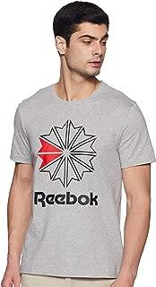 Reebok Men's Solid Regular Fit T-Shirt