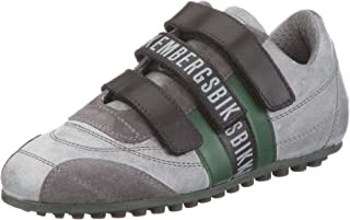 Bikkembergs Soccer Old Leath/Leath.Grey/DK.Green BKJ101523 - Zapatillas de Cuero para niños