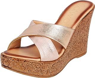 Catwalk Women's Rose Gold Fashion Sandals