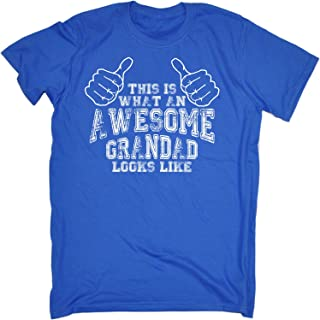 123t Men's This is What an Awesome Grandad Looks Like Tshirt