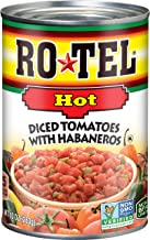ROTEL Hot Diced Tomatoes with Habaneros, 10 Ounce, 12 Pack