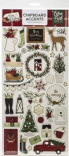 Echo Park Paper Company ACC189021 chipboard, red, Green, Black, Cream, Woodgrain