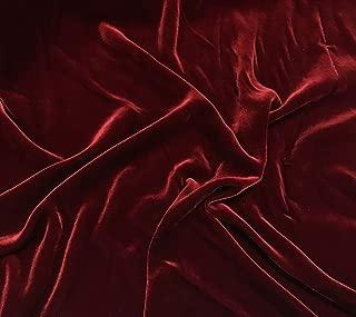 Iridescent Brick Red - Silk Velvet Fabric