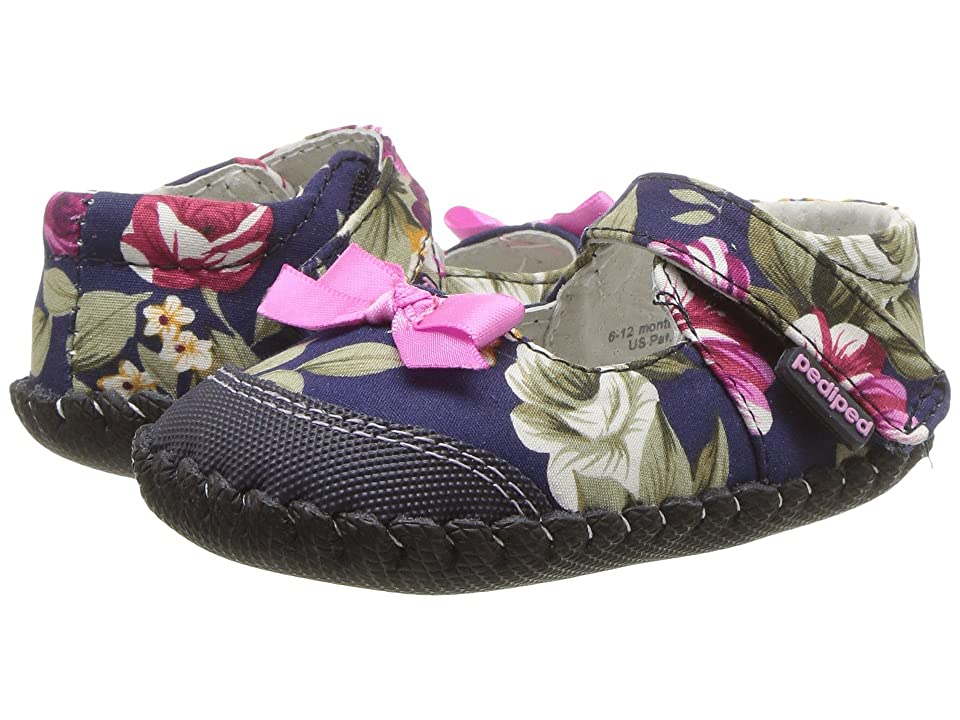 pediped Louisa Originals (Infant) (Navy Floral) Girls Shoes