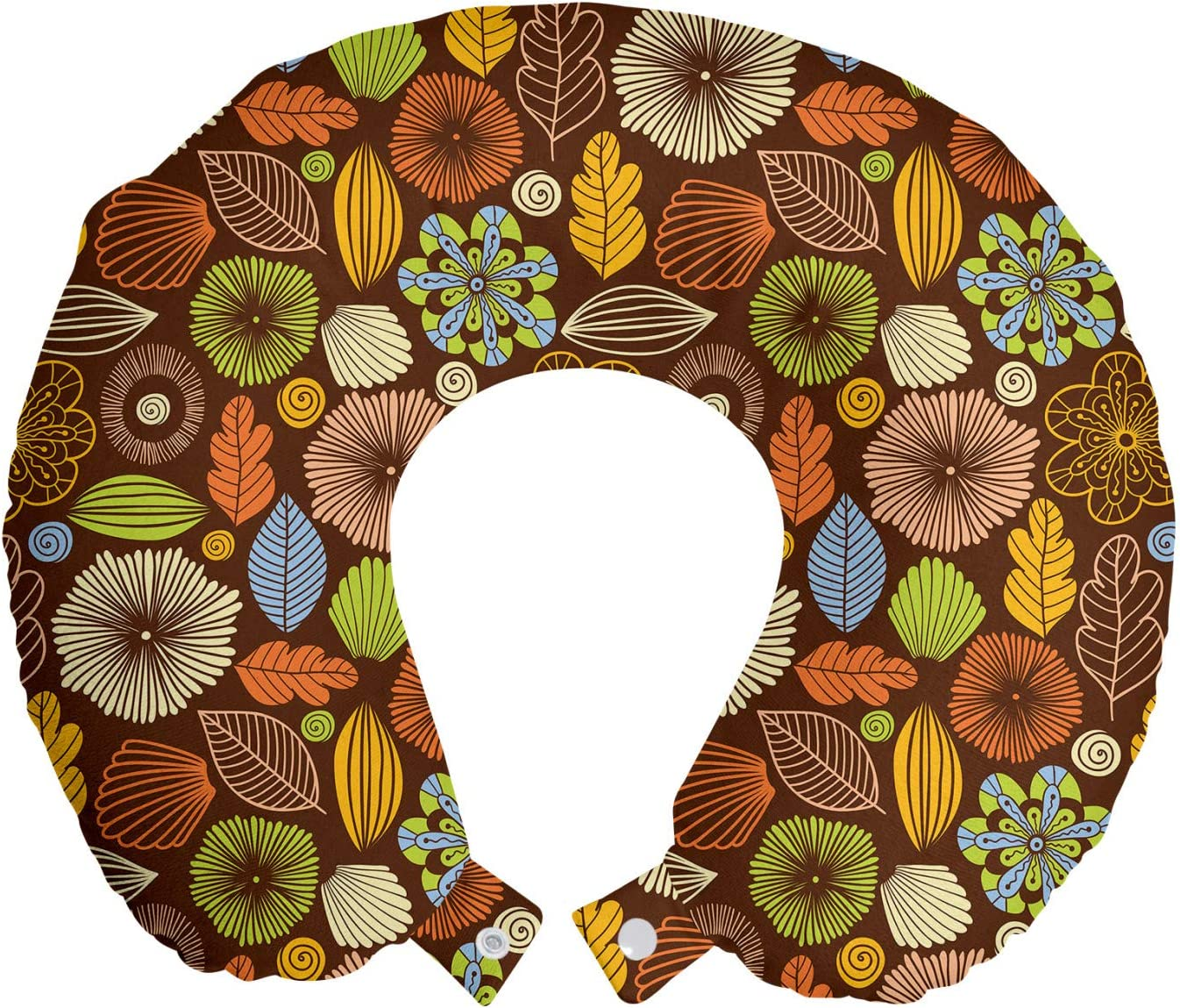 Cheap Many popular brands bargain Ambesonne Autumn Travel Pillow Neck wit Fall Colors Rest Season