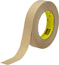 3M 463 Clear Transfer Tape - 1 in Width x 2 mil Thick - Densified Kraft Paper Liner - 03229 [PRICE is per CASE]