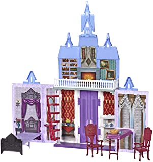 Disney Frozen Fold and Go Arendelle Castle Playset Inspired 2 Movie, Portable Play - Toy for Kids Ages 3 and up