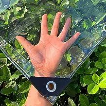 Dekzeil Waterdicht Transparant Zeildoek Dik 0.4mm,PVC Plastic Zeil Weerbestendig Regendicht Dekzeilen,met ogen,Kas Tuin Bo...