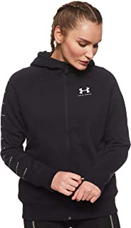 Under Armour Women's Rival Fleece Sportstyle Lc Sleeve Graphi Jacket