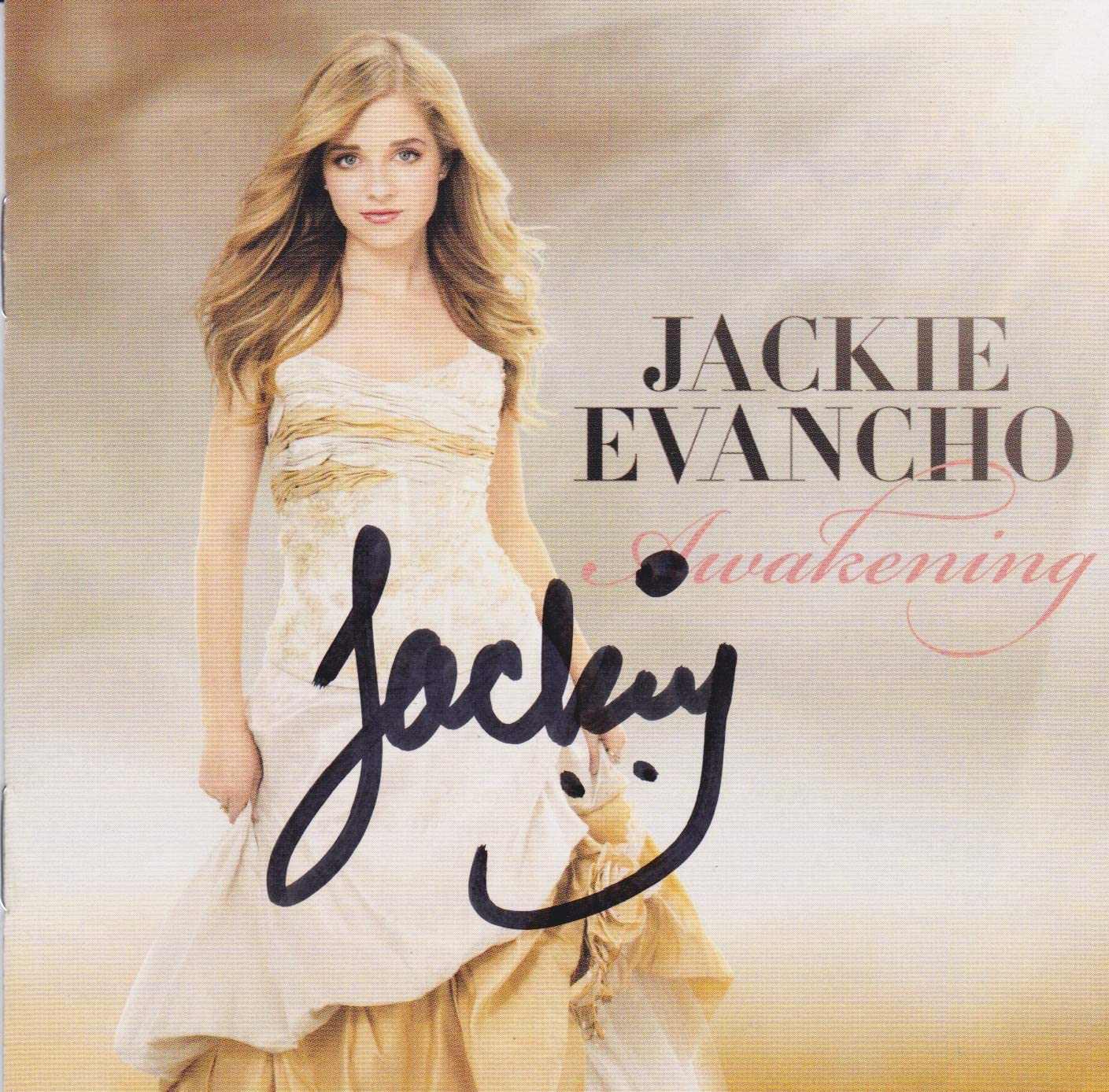 Jackie Evancho OFFicial mail order signed CD shop
