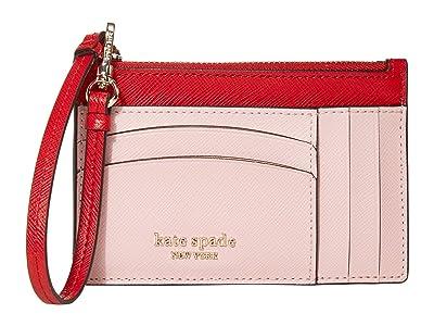 Kate Spade New York Spencer Card Holder Wristlet (Hot Chili Multi) Wallet