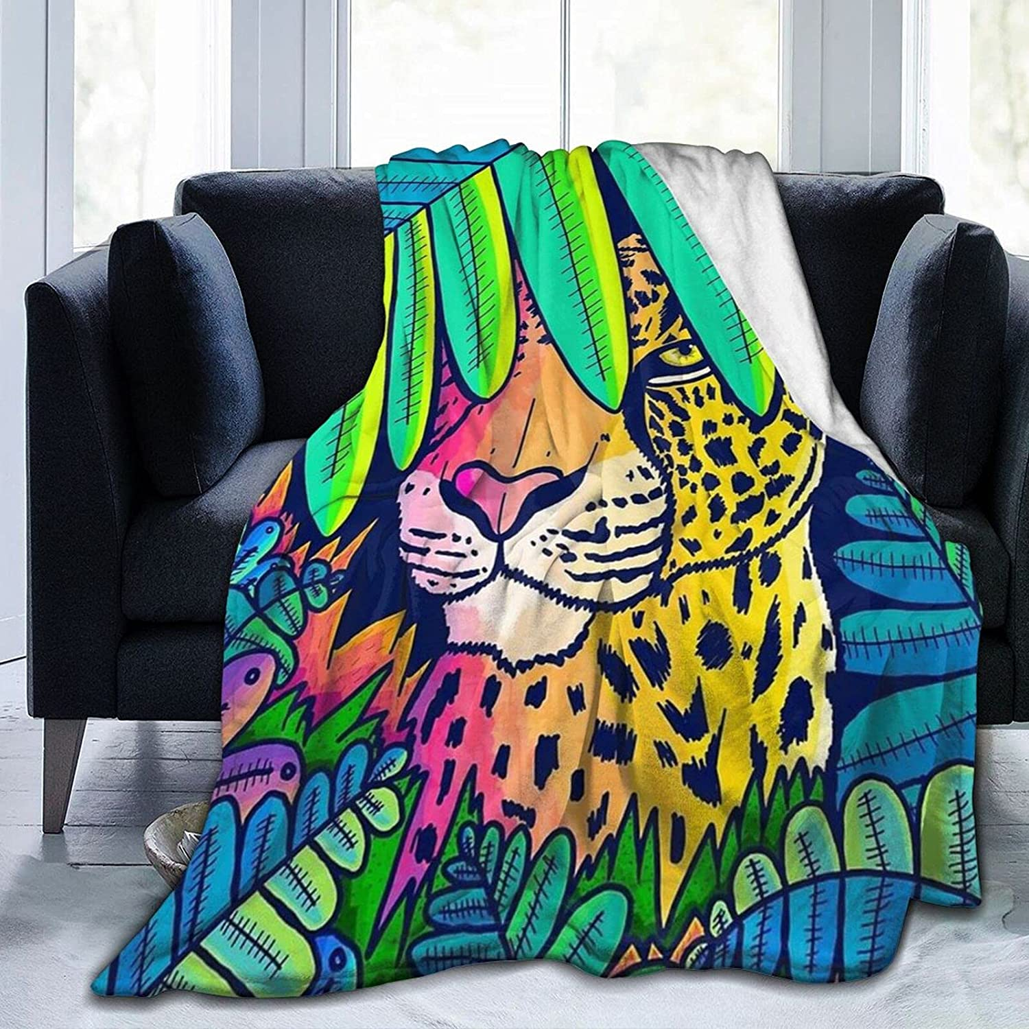 Guhire trend rank Leopard in The Jungle Be Blanket Fashionable Fleece Throw for