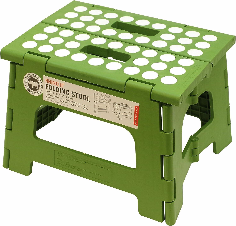 (Green) - Kikkerland Rhino II Step Stool, Green