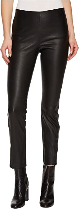 Leather Split Hem Crop Pants