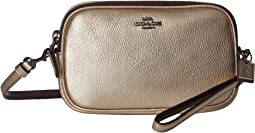 Metallic Crossbody Clutch