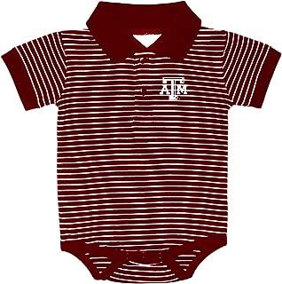 Texas A&M Aggies NCAA College Newborn Infant Baby Striped Golf Creeper