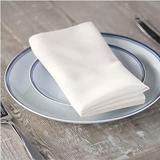 LA Linen 10-Pack Polyester Poplin Napkins, 18 by 18-Inch, Ivory