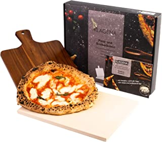 KLAGENA Pizzastein-Set für Backofen & Grill, inkl. Pizzastein & Pizzaschaufel..