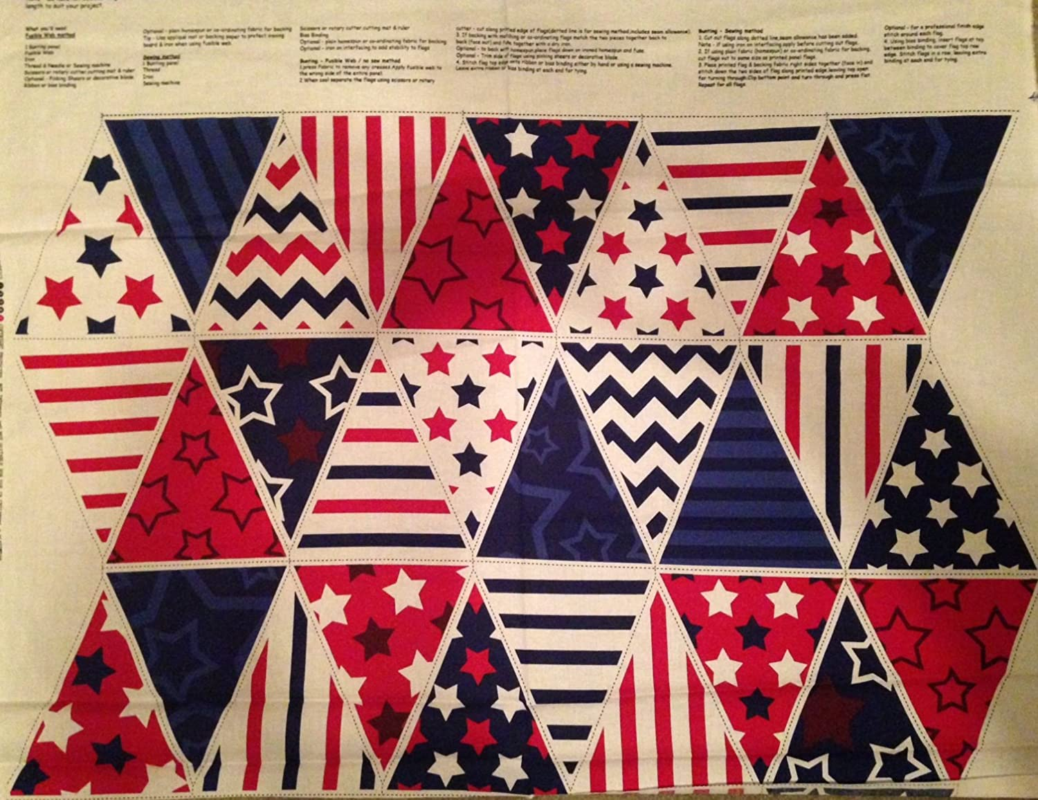 Patriot Ranking TOP13 Day Flags Bunting Cotton Licen - Panel 2021 model Fabric Officially