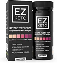 Easy Keto Ketone Testing Strips: For Urinalysis 150 High Grade Test Sticks Accurately Measure Urine Level For Ketones Perf...