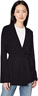 Amazon Brand - Daily Ritual Women's Wool Blend Long-line Open-Front Cardigan Sweater