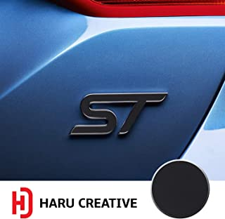Haru Creative - Front Grille Hood Rear Trunk Emblem Letter Insert Overlay Vinyl Decal Sticker Compatible with and Ford Focus ST 2013-2019 - Matte Black