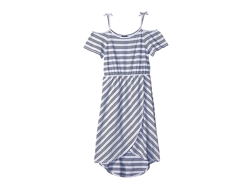 Tommy Hilfiger Kids Yarn-Dye Stripe Maxi Dress (Big Kids) (White) Girl